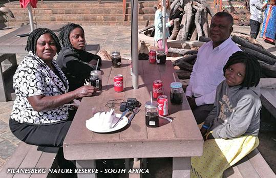 The Yashio family enjoying South Africa