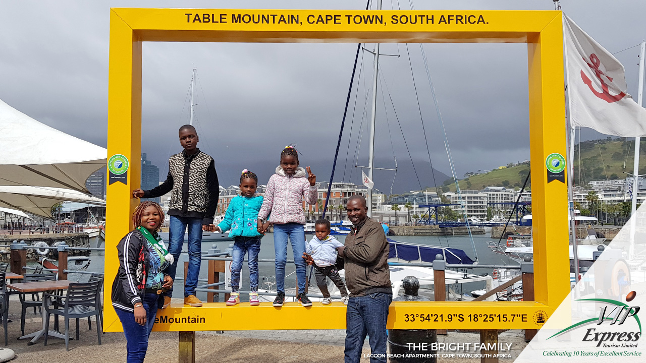 The Bright Family in Captivating Cape Town.