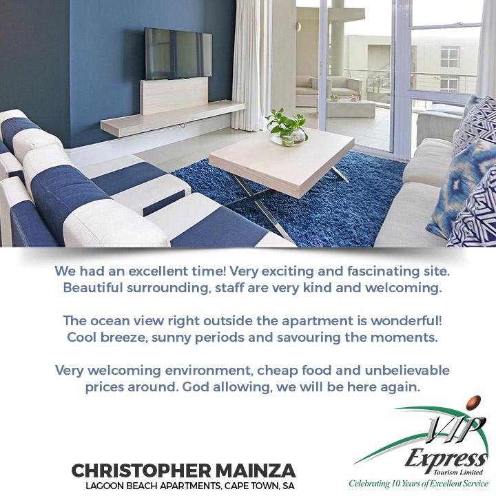 Lagoon Beach Apartments, Cape Town.