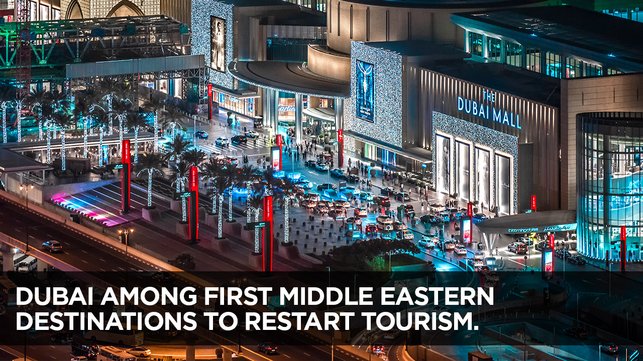 Dubai among first middle eastern destinations to restart tourism.